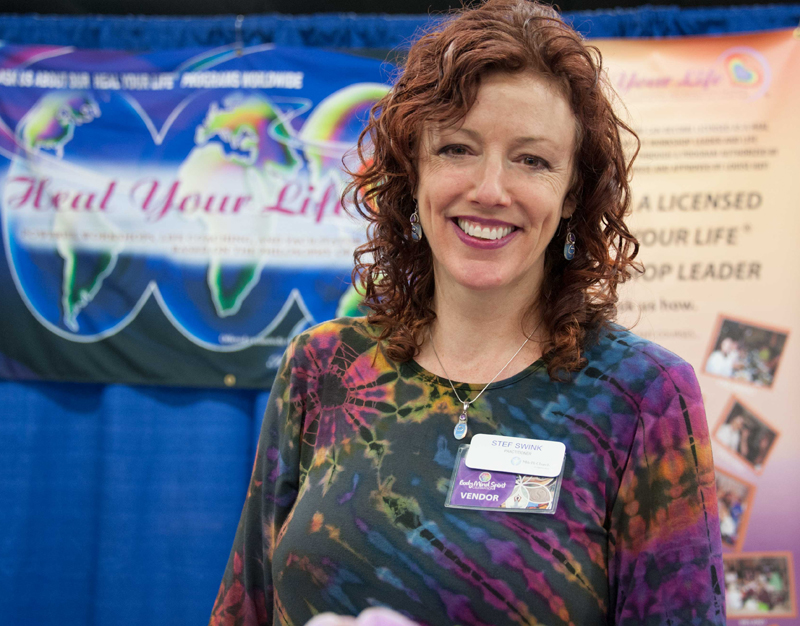 picture of Stef at the Body Mind Spirit Expo