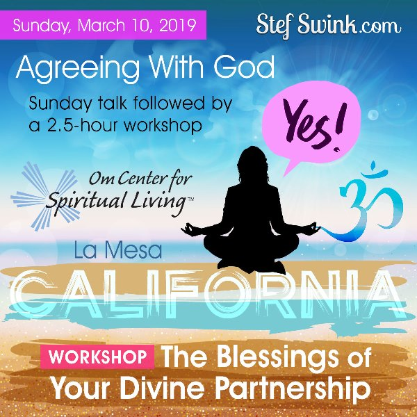 Agreeing with God - Sunday, March 10, 2019 flyer